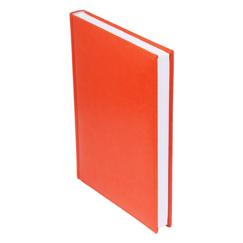 Ежедневник недатированный Birmingham 145х205 мм, без календаря, без лого оранжевый, оранжевый,