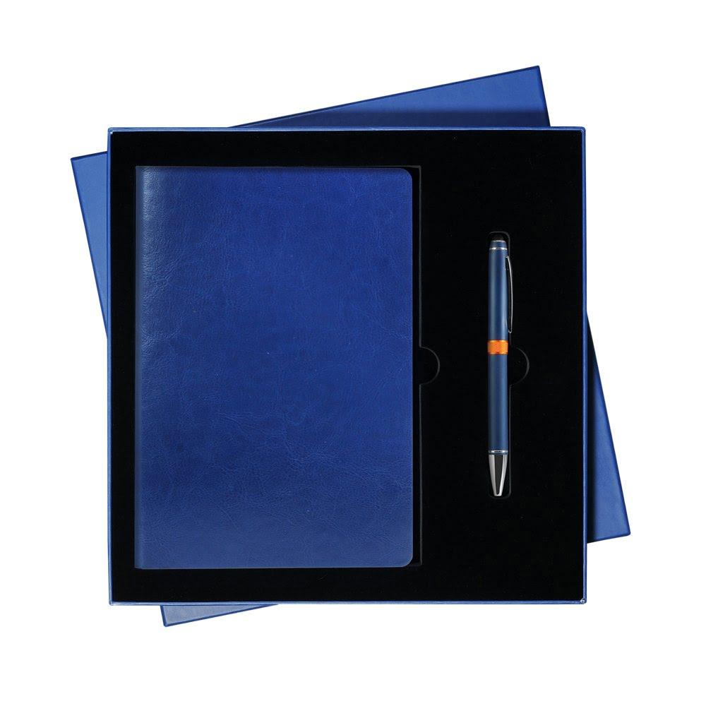 Подарочный набор Portobello/River Side синий (Ежедневник недат А5, Ручка), синий,