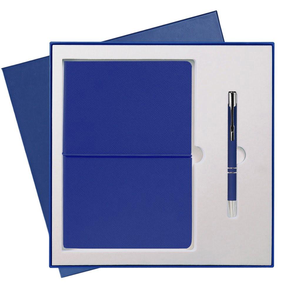 Подарочный набор Portobello/Summer time синий (Ежедневник недат А5, Ручка) беж. ложемент, синий,