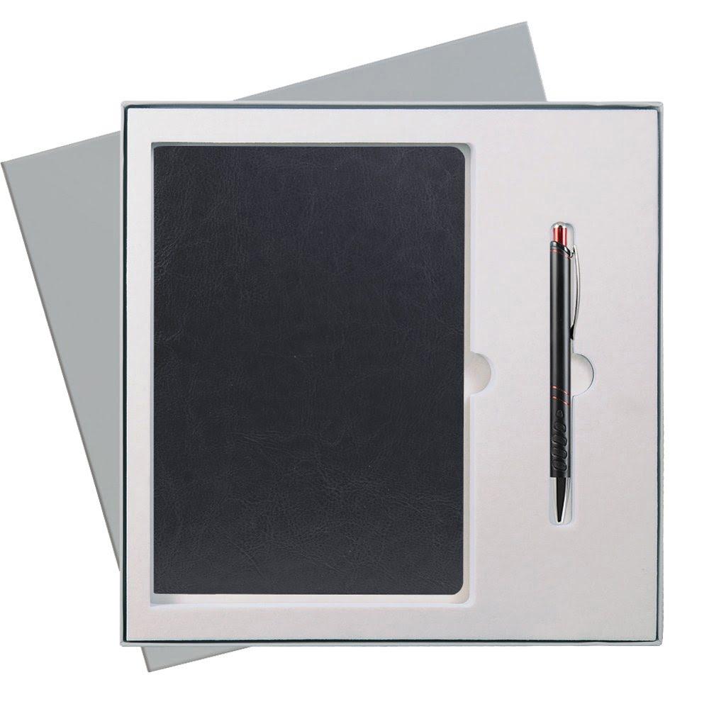 Подарочный набор Portobello/River Side черный (Ежедневник недат А5, Ручка) беж. ложемент, черный,