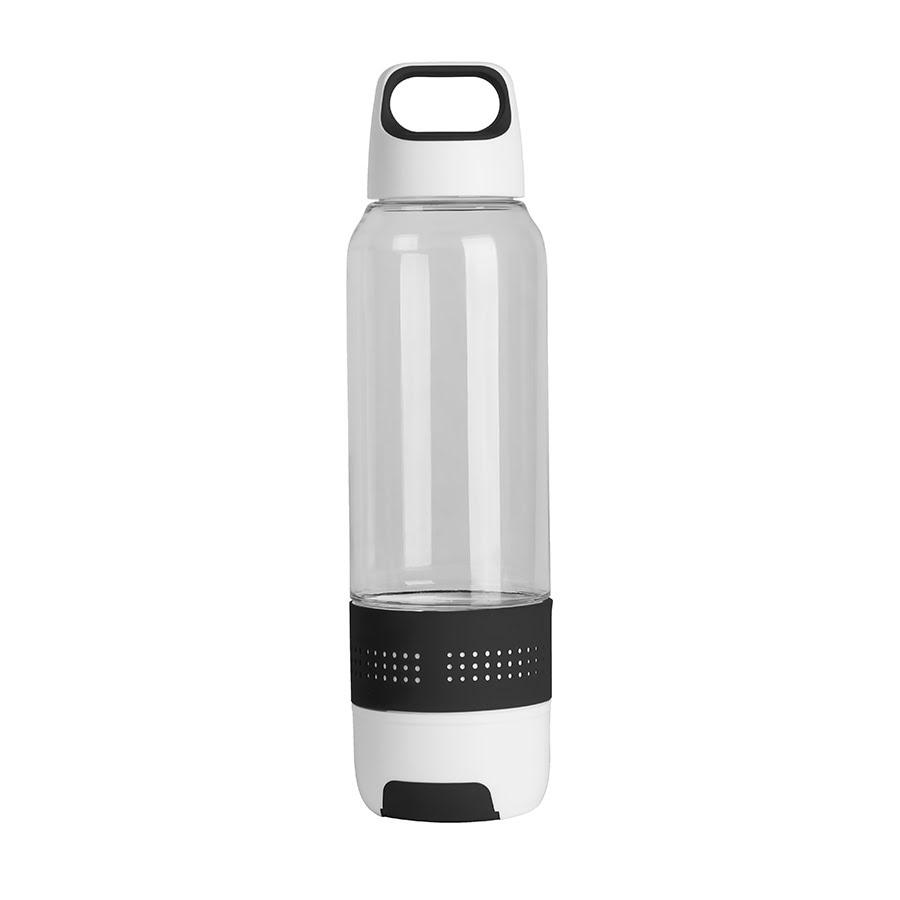 Бутылка с полотенцем TRAINER, белый, черный, пластик, микрофибра