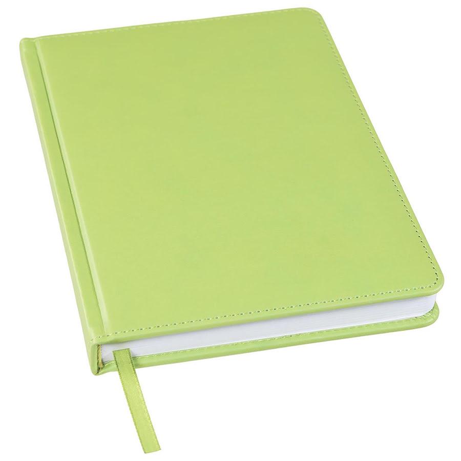 Ежедневник недатированный Bliss, А5,  зеленое яблоко, белый блок, без обреза, зеленое яблоко, pU Velvet