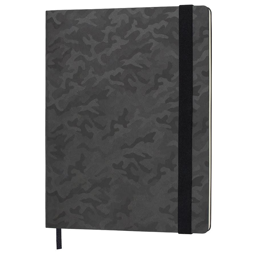 Бизнес-блокнот TABBY BIGGY, формат B5, в клетку, черный, pU-материал