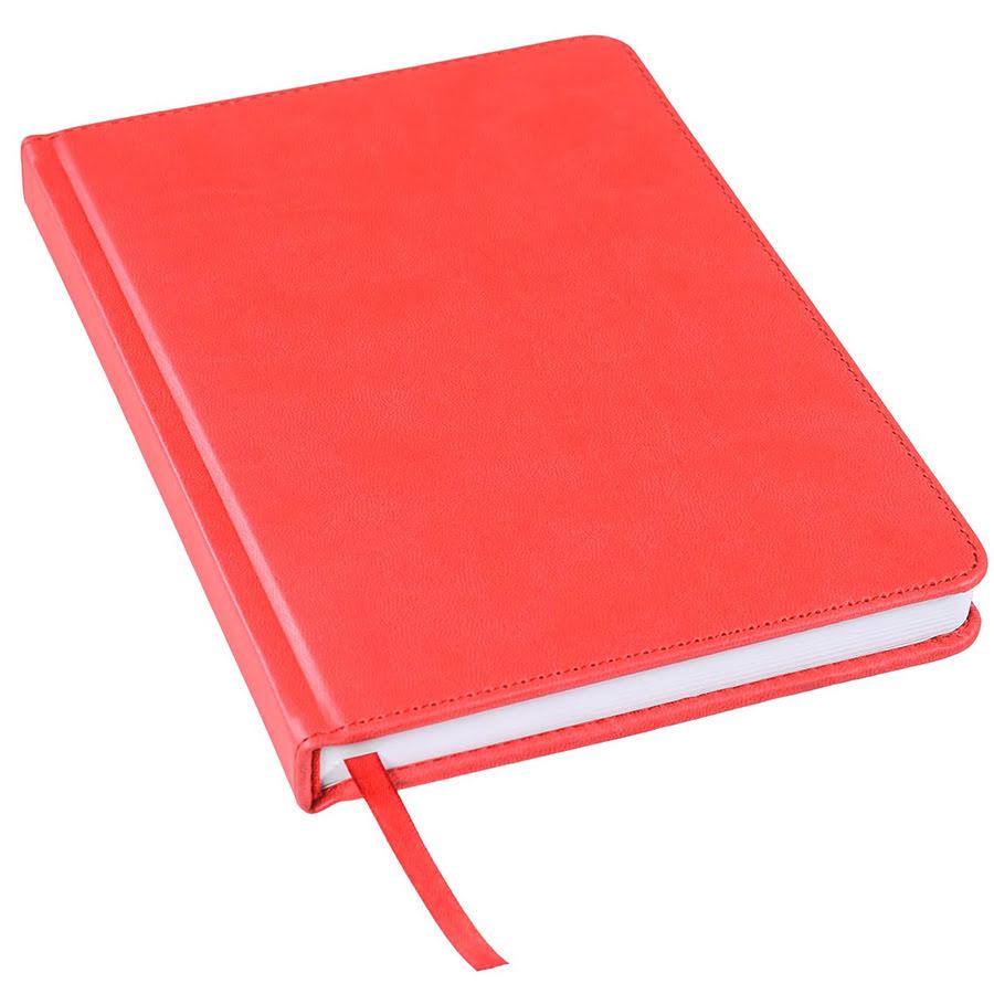 Ежедневник недатированный Bliss, А5,  красный, белый блок, без обреза, красный, pU Velvet