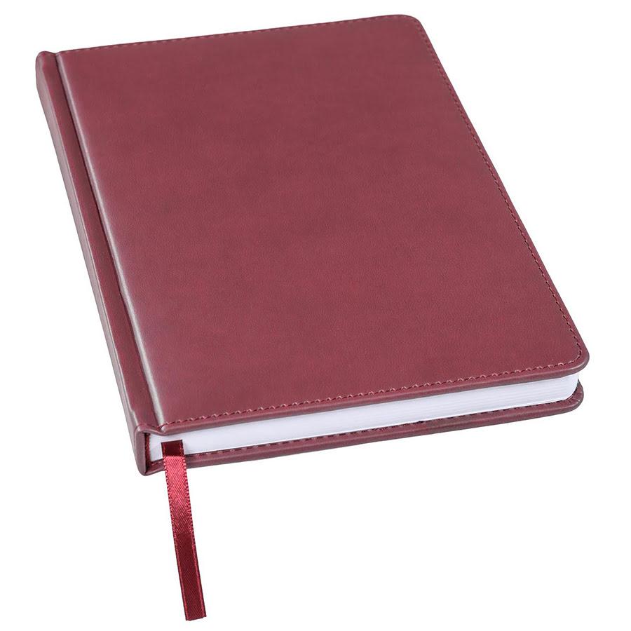 Ежедневник недатированный Bliss, А5,  бордовый, белый блок, без обреза, бордовый, pU Velvet