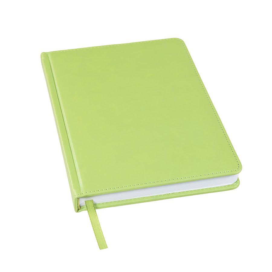 Ежедневник недатированный Bliss, А5,  оливковый, белый блок, без обреза, оливковый, pU Velvet