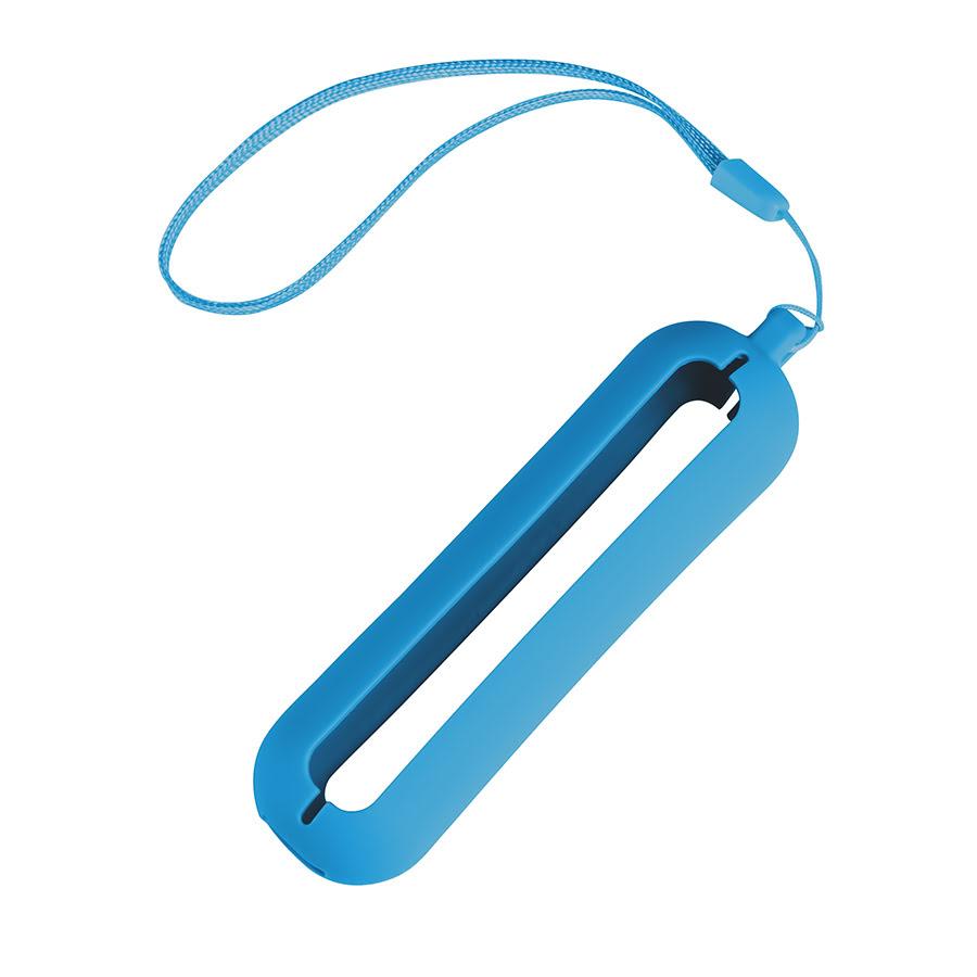 Обложка с ланъярдом к зарядному устройству SEASHELL-1, голубой, силикон, текстиль