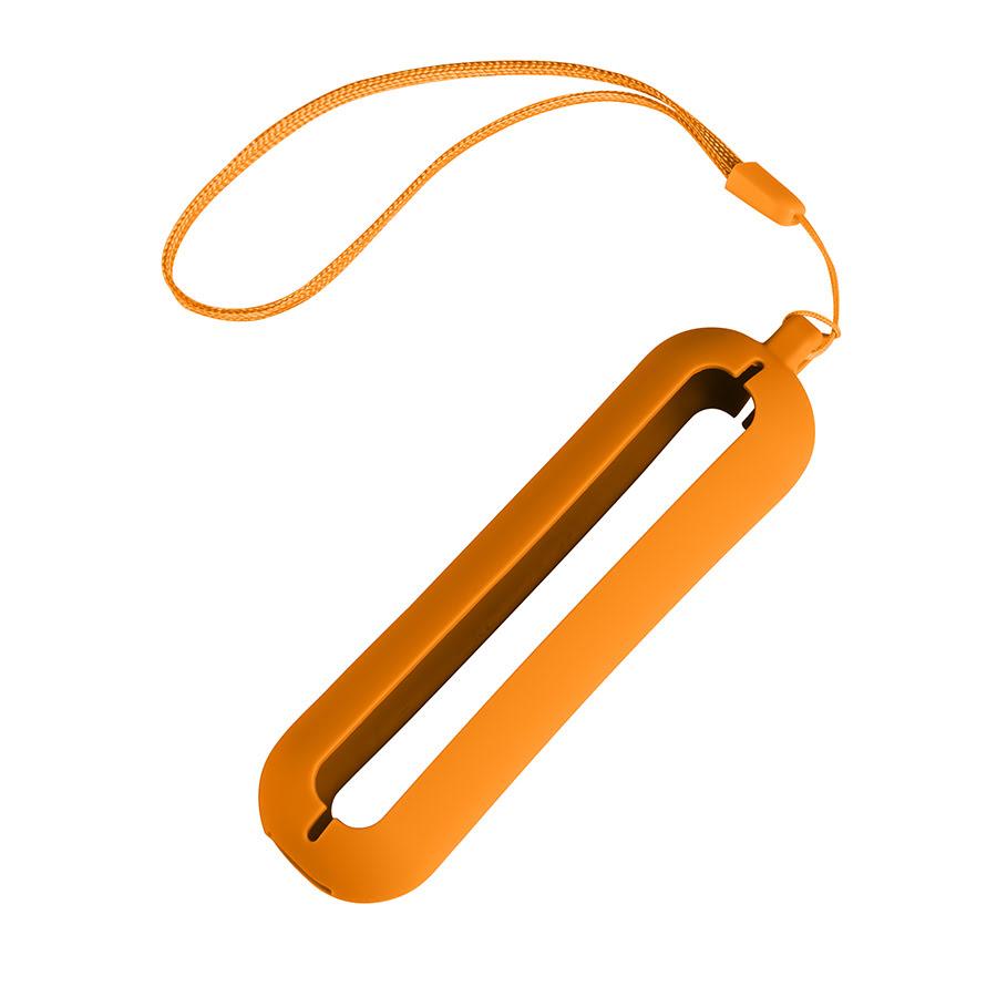 Обложка с ланъярдом к зарядному устройству SEASHELL-1, оранжевый, силикон, текстиль