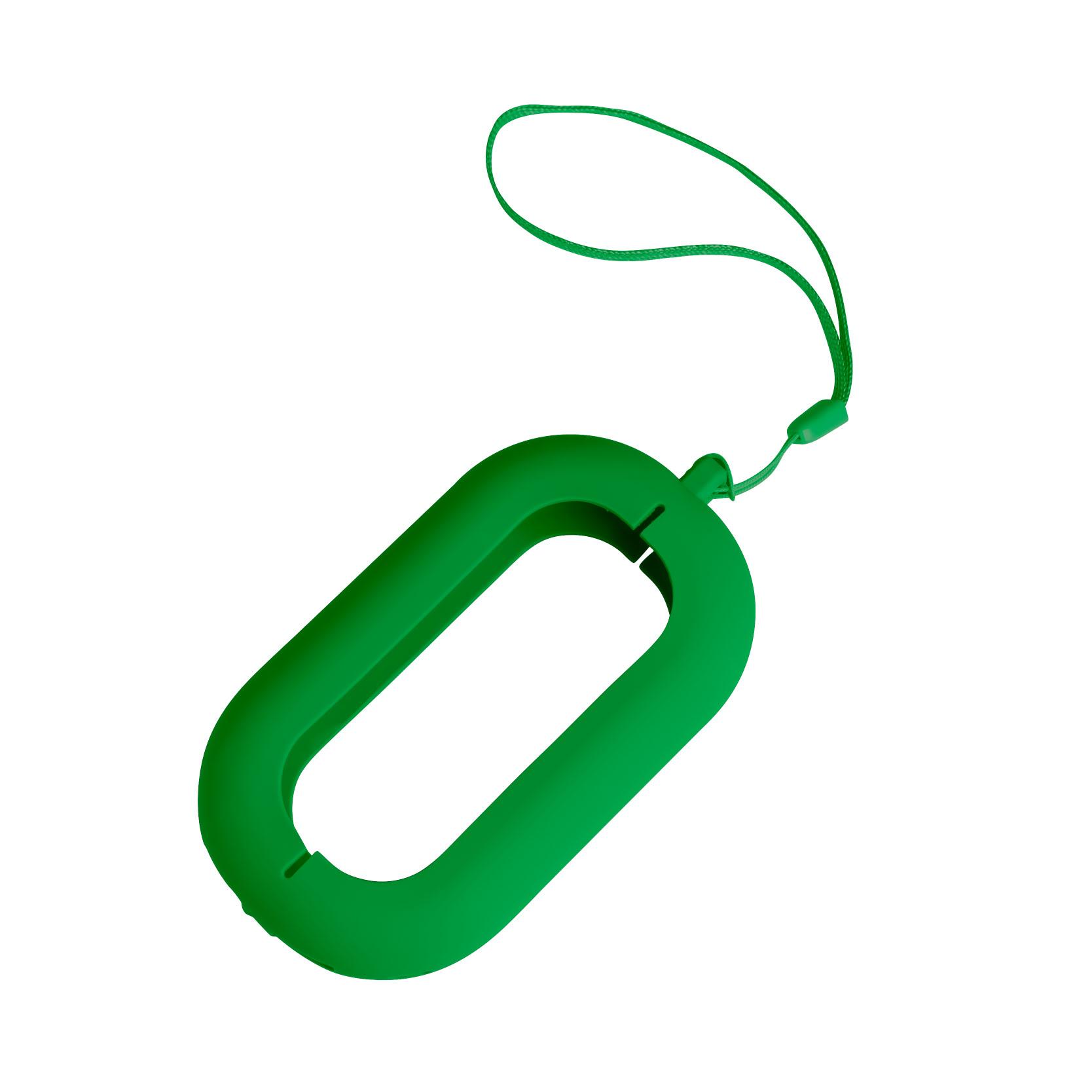 Обложка с ланъярдом к зарядному устройству SEASHELL-2, зеленый, силикон, текстиль