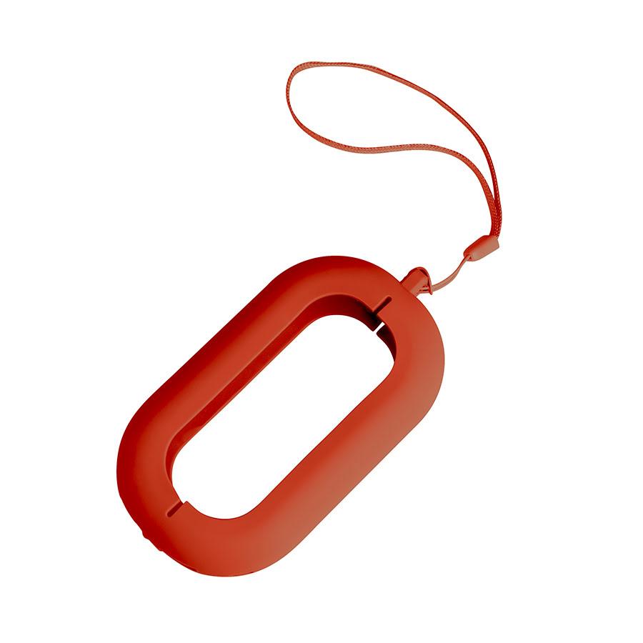 Обложка с ланъярдом к зарядному устройству SEASHELL-2, красный, силикон, текстиль