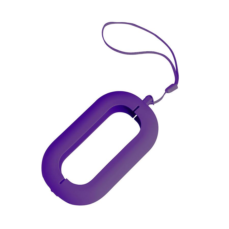 Обложка с ланъярдом к зарядному устройству SEASHELL-2, фиолетовый, силикон, текстиль