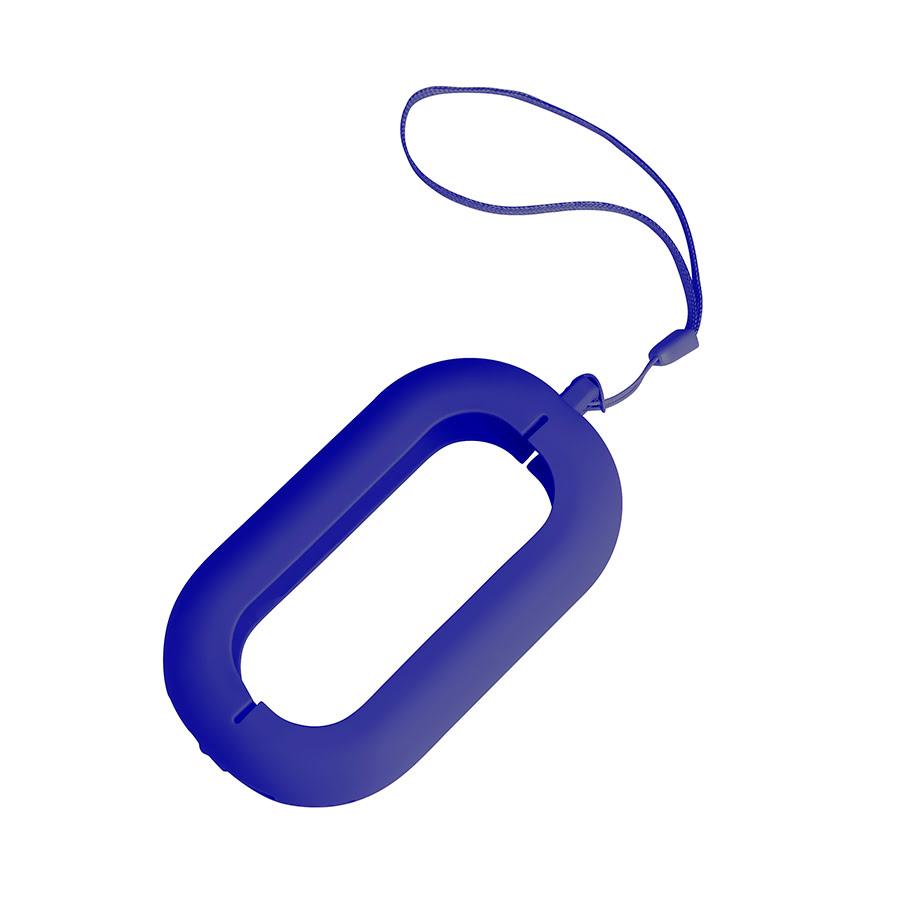 Обложка с ланъярдом к зарядному устройству SEASHELL-2, синий, силикон, текстиль