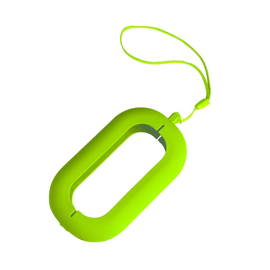 Обложка с ланъярдом к зарядному устройству SEASHELL-2, светло-зеленый, силикон,текстиль